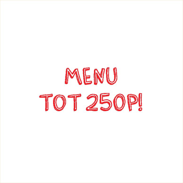 Knop Roels rood menu tot 250